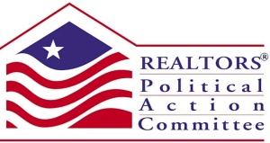 This is the logo for a realtors' political action committee or PAC. It's supposed to pool contributions from members to contribute to political purposes. According to federal law, an organization becomes a PAC when it receives or spends more than $2,600.