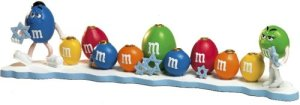 Apparently, Jews seem to really love M&Ms. How else could you explain this? Wonder if they have an M&M nativity scene.