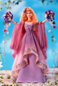 Now I'm sure this isn't Barbie. But I also have no idea whether this is supposed to be a generic spring doll or depict an actual goddess or character. I just know it has something to do with spring.
