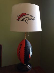 Now this Broncos lamp will look great in any little Denver boy's room. Of course, it's possible that one of the South Park kids has this.