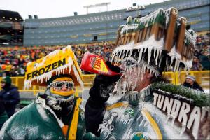 Now these guys must have been outside for hours. Then again, the icicles are only part of the costume. Or so it seems.