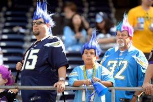 Yes, I'm sure it wouldn't be normal to see blue and pink mohawk on three generations. But these people sure do their best to support their team.