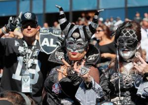 Of course, these ladies certainly dress to impress. And yes, showing their support for the Raiders means wearing their fanciest clothes like they would at a European carnival.
