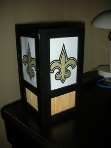 I think this creation was made with two dollar store picture frames. And I guess the fleur de lis came from printed paper.