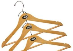 On NFL shop a set of 3 of these cost $12.95, which is overpriced. You can easily get a set of 5 for $6.99 at Bed, Bath, and Beyond, but without the NFL logo. Actually you can get wooden hangers practically anywhere like pharmacies, hardware stores, as well as clothing and general living stores. So these aren't worth it.