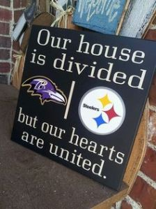 My cousins from Maryland seriously need to get this for their parents on their next wedding anniversary. Still, it's kind of funny how my Uncle Mike didn't speak to my Aunt Jane for 2 days after the Steelers won a game against the Ravens in a major upset.