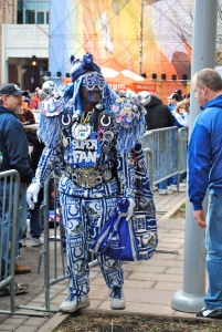 Now if all that doesn't make him a Super Fan, then I don't know what does. Still, I'm sure he has a tendency to put all his fellow Indianapolis Colts fans to shame.