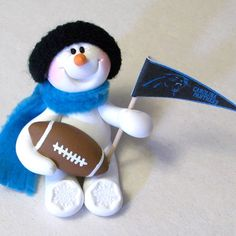 Surprising that a snowman could be a fan of the Carolina Panthers. Because I'm sure that they don't have many people building snowmen in the Carolinas during the winter, especially during the Christmas season. Hell, where I live doesn't get a lot of snow that time of year either.