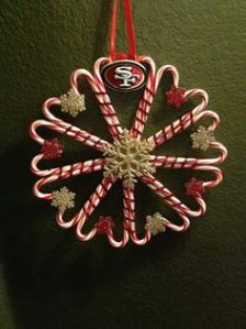 Now this is an elaborate ornament for a Christmas tree. Of course, Not sure where they got the gold and red snowflakes from. But I think this ornament should be kept higher in the tree to keep away from small children and animals.