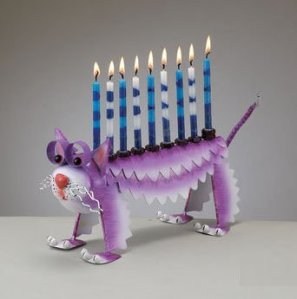 Hey, Christians aren't the only ones who have religious kitsch. If you're a Jew reading this, feel free to talk about the cat's significance to Hanukkah in the comments section.
