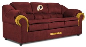 For some NFL fans, a team themed couch might be something they'd like to have, but will never get. Well, unless they're married to someone who's as much of a passionate football as them or very rich.