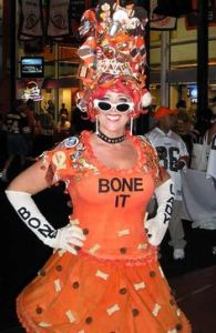 Now I have to admit, she has quite a creative fashion sense as the Bone Lady. However, I'm sure dressing like that isn't going to help her team. And I know that the Browns aren't known for their winning streaks in the AFC North.