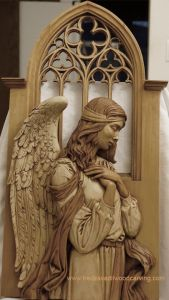 For some reason, biblical angels are typically addressed as male. But you tend to see them in artwork as female. Then again, it's said that angels in the Bible tend to look quite freaky.