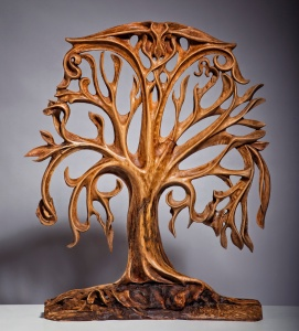 Now this was a sculpture that is carved from wood. Wood comes from a tree, which is currently dead from how I can tell it. See the irony here?