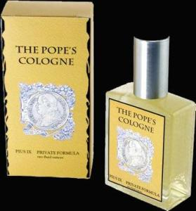 Bet this pontiff didn't think he was going to have his own fragrance line. Still, the thought of a Pope having his own cologne just makes me baffled. Seriously, why?