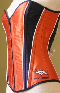 Okay, NFL lingerie is one thing. But an NFL themed corset? Please. I mean most women don't wear corsets anymore for God's sake. Seriously, why?