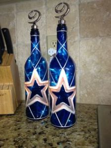 Okay, I'm not a fan of the Dallas Cowboys. But even I have to admit that these are really nice bottle lamps. By the way, you might see more of these, too.