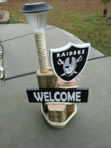 I'm sure this decoration was rarely used for a Super Bowl party. Knowing how the Raiders don't have a great track record.