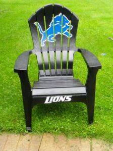 They have lawn chairs for each team by the way. And they're all painted and made from wood. So they're more durable than their plastic counterparts.