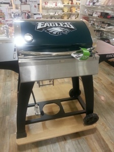 Now grill tools and meat branders are one thing. But a NFL themed grill? That's insane. Seriously, why?