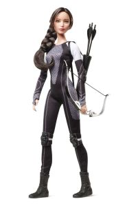 This is her from Catching Fire when she had to go back to the arena for the Quarter Quell. Still, they have quite a few Hunger Games fashion dolls. Love to see how many Effie Trinket has.