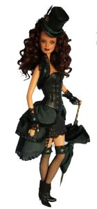 Steampunk is kind of hard to explain since it employs Victorian clothing and steam technology in a sci-fi fashion. However, this doll might risk arrest for wearing a slutty outfit like that in Victorian London.