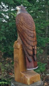 You should know that birds of prey are popular subjects in wood sculpture. Because case in point, birds of prey are cool. Just ask anyone.