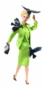 Don't worry I'm sure the birds won't peck her to death. That would be Susanne Pleshette's character.