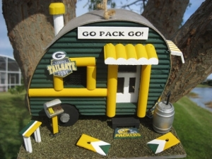 Comes with its very own grill and beer keg. Still, it looks as if it was fashioned by Lincoln logs for some reason.