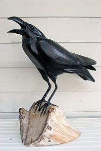 If crows and ravens can talk, I guess you can hear them say,