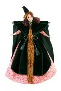 Can't do a post on fashion dolls without including this one. Love her Scarlett O'Hara curtain dress by the way.