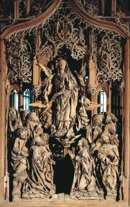 This is from a medieval cathedral in Europe. And man, how they did this without power tools must be some act of the Holy Spirit working the carvers who made this. How else can I explain stuff like this.