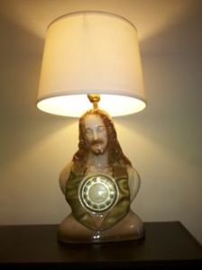 Now this is very disturbing. Is that Jesus from the chest up or Jesus sitting Indian style? I can't be sure. Still, it's freaky as hell.