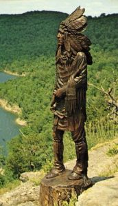 Native Americans seem to be a common subject in wood sculpture for some reason. At least in America. By the way, this is a Plains Indian. And not all Indians dress like that.