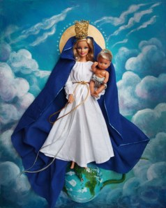 Yes, they actually have this. Well, they have several of these whether you like it or not. However, I don't know about you, but I really don't think the Virgin Mary should be depicted with blond hair. That's just my opinion.