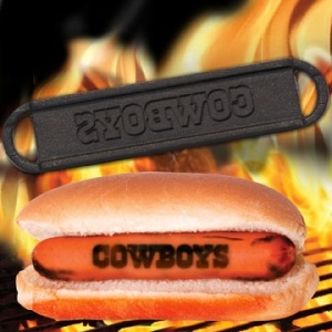 Is branding your hotdogs really necessary? Seriously, as long as they're grilled, who the hell would give a shit if they have your favorite team on them? Besides, I really don't want to eat a hotdog that supports the Dallas Cowboys anyway.