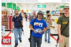 The open carry movement is one where people openly carry guns into public places as a way of