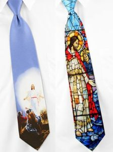 Yes, ties have all sorts of tacky stuff on them. These are no exception. Yet, I can't decide which one is more ridiculous.