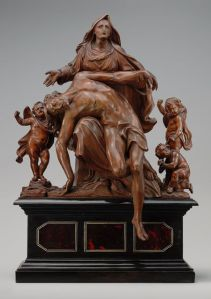 Now this sculpture of Mary weeping of Jesus is quite amazing. And in some ways almost looks real. However, it's no Michelangelo's Pieta.