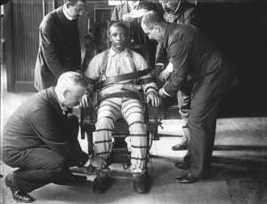 Another popular execution method in the US is the electric chair where a prisoner is strapped to a chair like this and is electrocuted. Let's just say if the electric chair doesn't seem humane on The Green Mile, then it's probably not in real life.