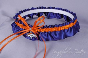 Well, at least it's something blue. But still, a Denver Broncos garter? Seriously, why?