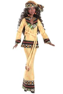 Just so you know, Africa is a nation of highly diverse wildlife, nations, and cultures. I only called this doll African Barbie since I have no idea which country she's supposed to be from. Yet, I know it's either from the west or the south.