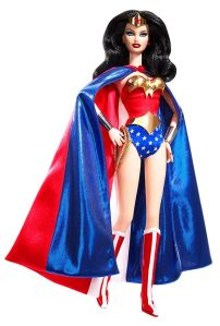 Now Wonder Woman is one of the more definitive female superheroes. However, I don't think fighting crime in a cape and scantily clad outfit is a good message to send to young girls.