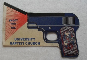 Anytime I see gun use in religious crap, I will put it on this post. I don't care what faith it's from. Religion and gunplay simply just don't mix in my book.