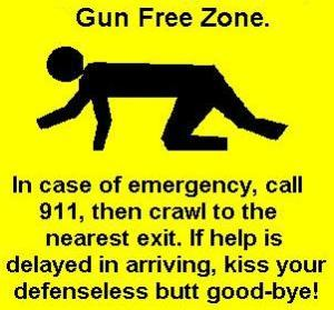 This is a pro-gun picture depicting how gun-free zones don't prevent mass shootings and how police don't stop massacres. However, if you're in a mass shooting situation, it's generally recommended you don't try to confront the shooter with firearms. It's best advised that you leave the defensive shooting to the police in these circumstances.