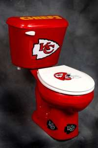 Seriously, why show your love for your team by buying something that usually goes with the house? I mean the only reason why anyone would buy a new toilet is if suddenly bursts into a bunch of bits. I mean why?