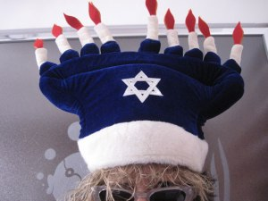 Ever get the impression that some Jews are trying to make Hanukkah as much like Christmas as possible. Guess they don't want their kids to be bummed about not celebrating it. Still, this is just too much.