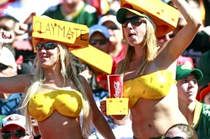 "I think they're supposed to be ""Claymates"" or whatever that is. I'm not sure. I don't really follow the Packers much anyway to know anything about their fan culture."