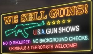 Many gun rights activists may say that legal gun owners don't commit crimes. However, many criminals buy their weapons at gun shows because they don't require background checks. So what does that tell you?