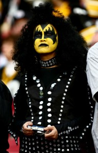 Now I'm sure this person is a big fan of KISS as well from the outfit and makeup. Also seems to prefer a lot of bling as well from what I can recall.